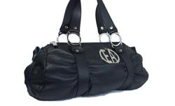 0a0770536cc7 Premier Designer Handbags. Stock  DE20087  100% Authentic Emporio Armani  Handbag. Black Color Armani Leather Handbag. Measurements   5