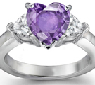 beauty style premier designer 2010 new rings collection heart blue sapphire and blue sapphire diamond round engagement ring - Purple Diamond Wedding Ring