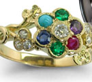 Cocktail Multi Gemstones Rings