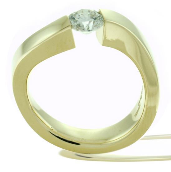 The Tension Set Diamond Engagement Ring