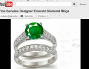 Watch Our Fine Genuine Emerald Ring Videos on Youtube