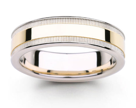 platinum 18k gold two tone wedding rings - Platinum Wedding Rings