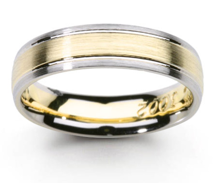 Wedding Rings Platinum Gold 18k Bands Two Tone