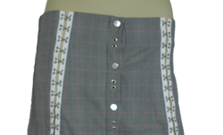 D&G Women's Designer Check Skirts